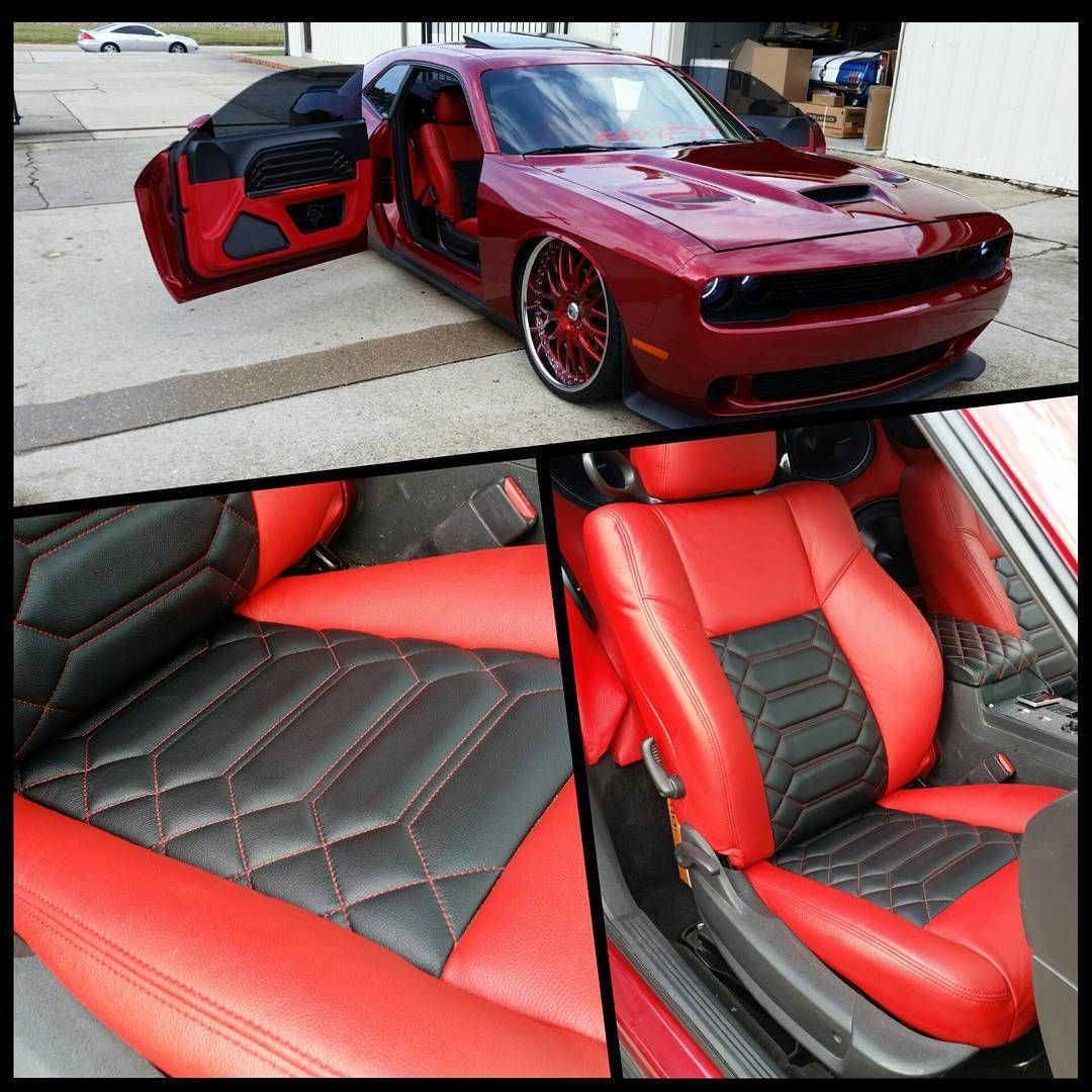 Dodge Challenger Red And Black Interior Slammed Suicide Door Auto Addiction Interiors