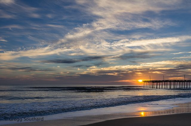 Sunrise at the Pier-7028 by Gregg Southard, via Flickr Outer Banks Fishing Pier in South Nags Head, North Carolina