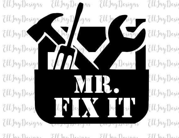 Mr Can Do Tools SVG DXF Graphic Art Cut Files