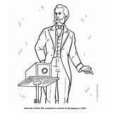Alexander Graham Bell American History For Kids Coloring Pages