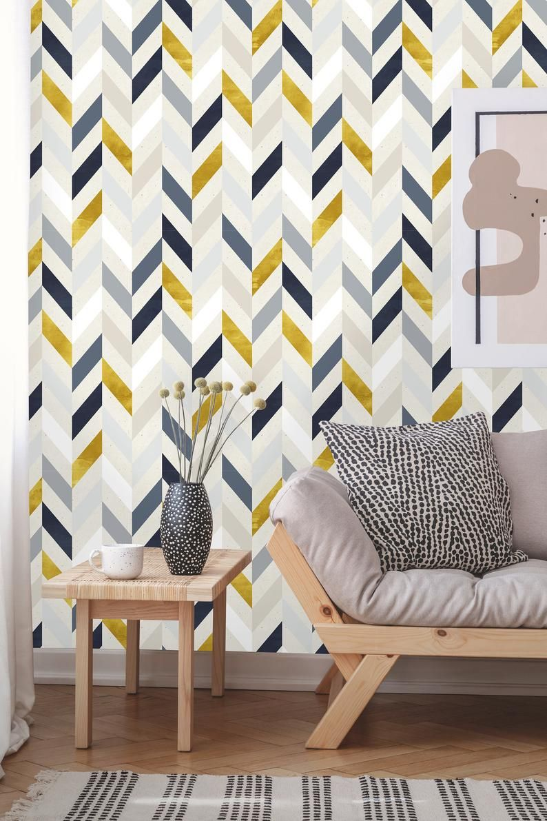 Removable Wallpaper Peel And Stick Geometric Mural Self Etsy In 2020 Removable Wallpaper White And Gold Wallpaper Geometric Wallpaper