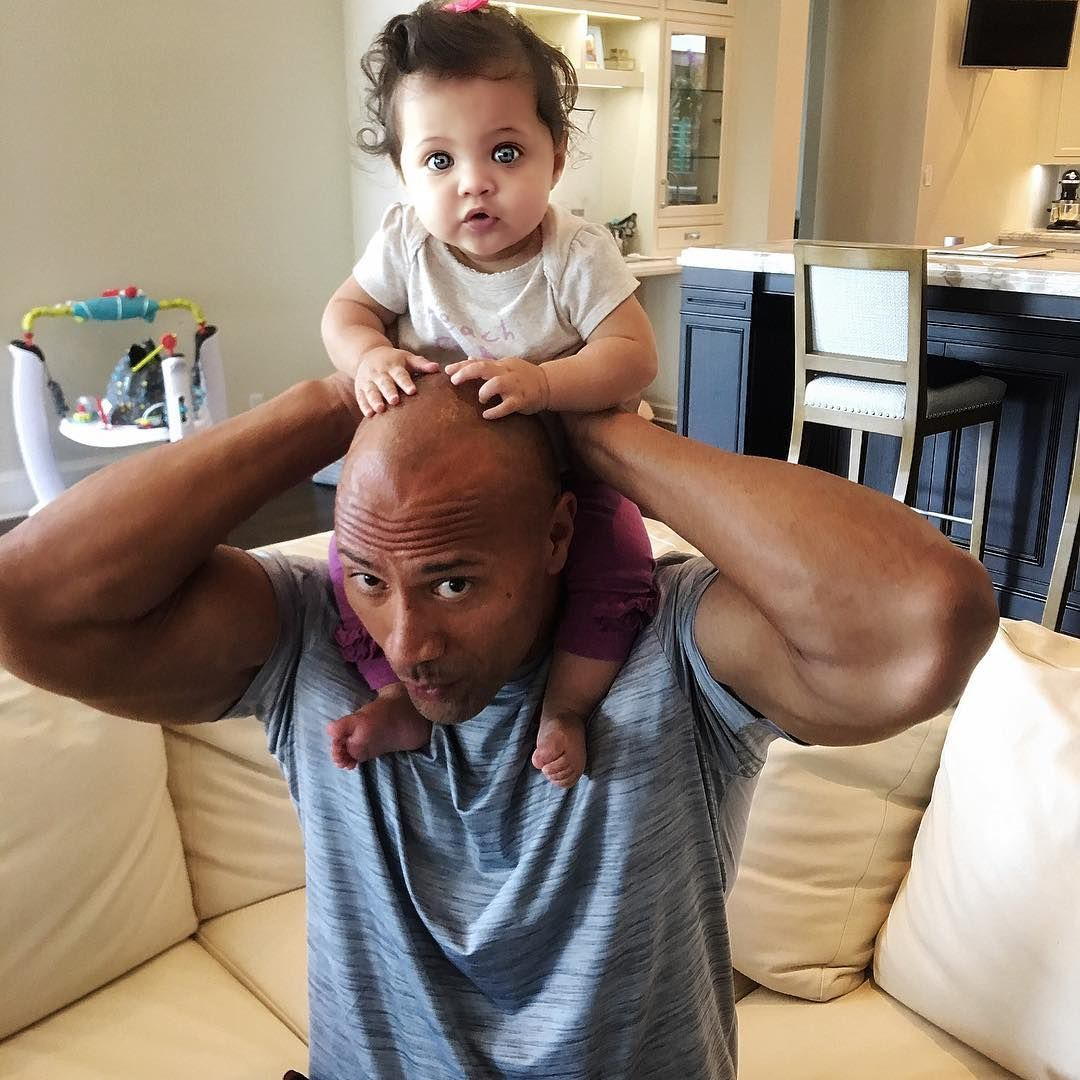 Dwayne Johnson The Rock And His Gorgeous Baby Girl Jasmine