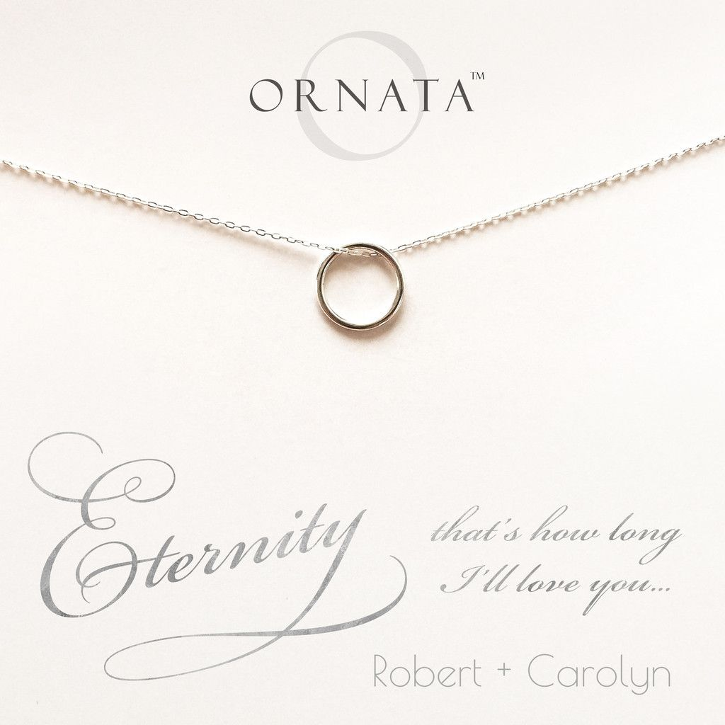 """""""Eternity"""" Personalized Sterling Silver Circle Necklace"""