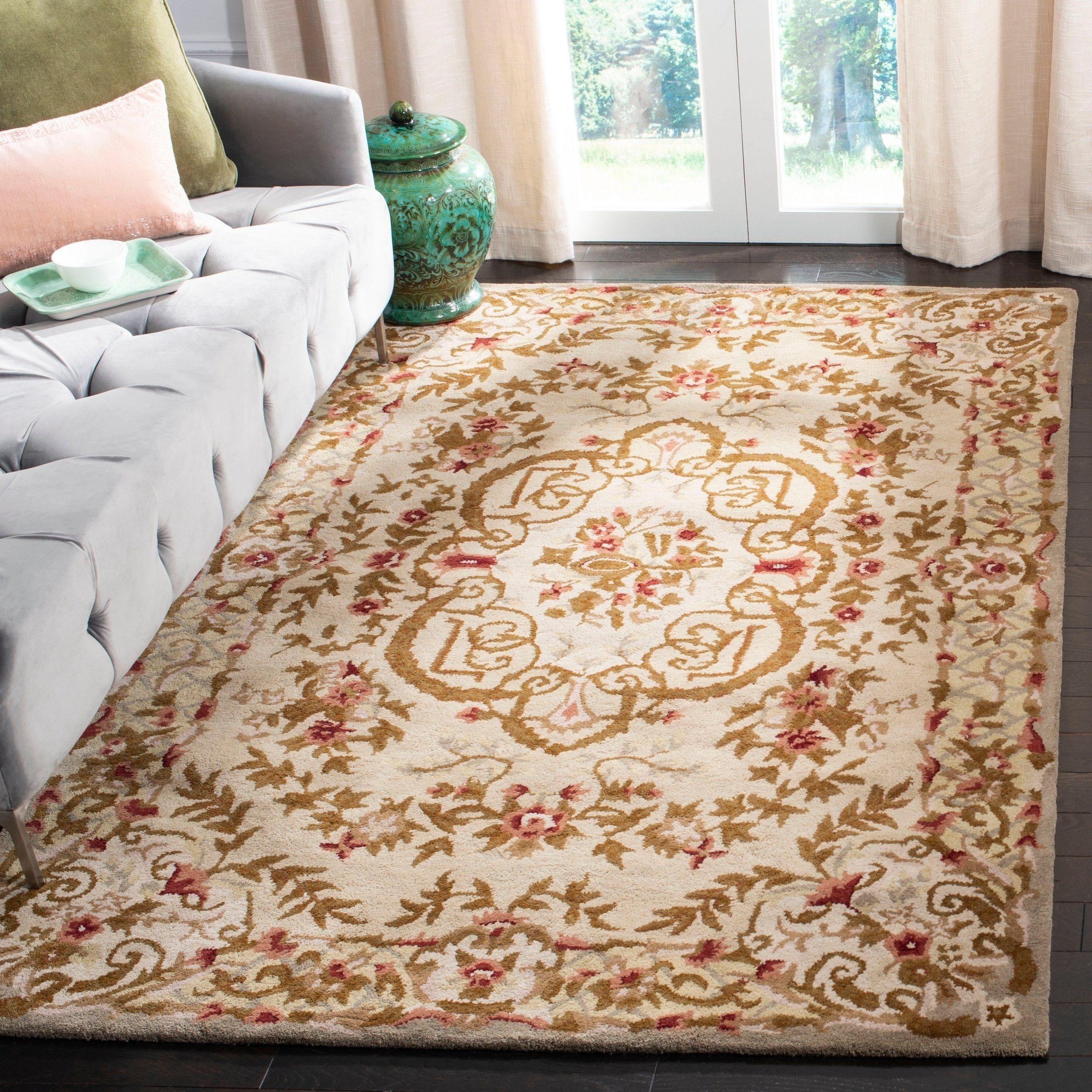 size 5 x 8 safavieh handmade classic ivory wool area rug 5 x 8 rh pinterest com