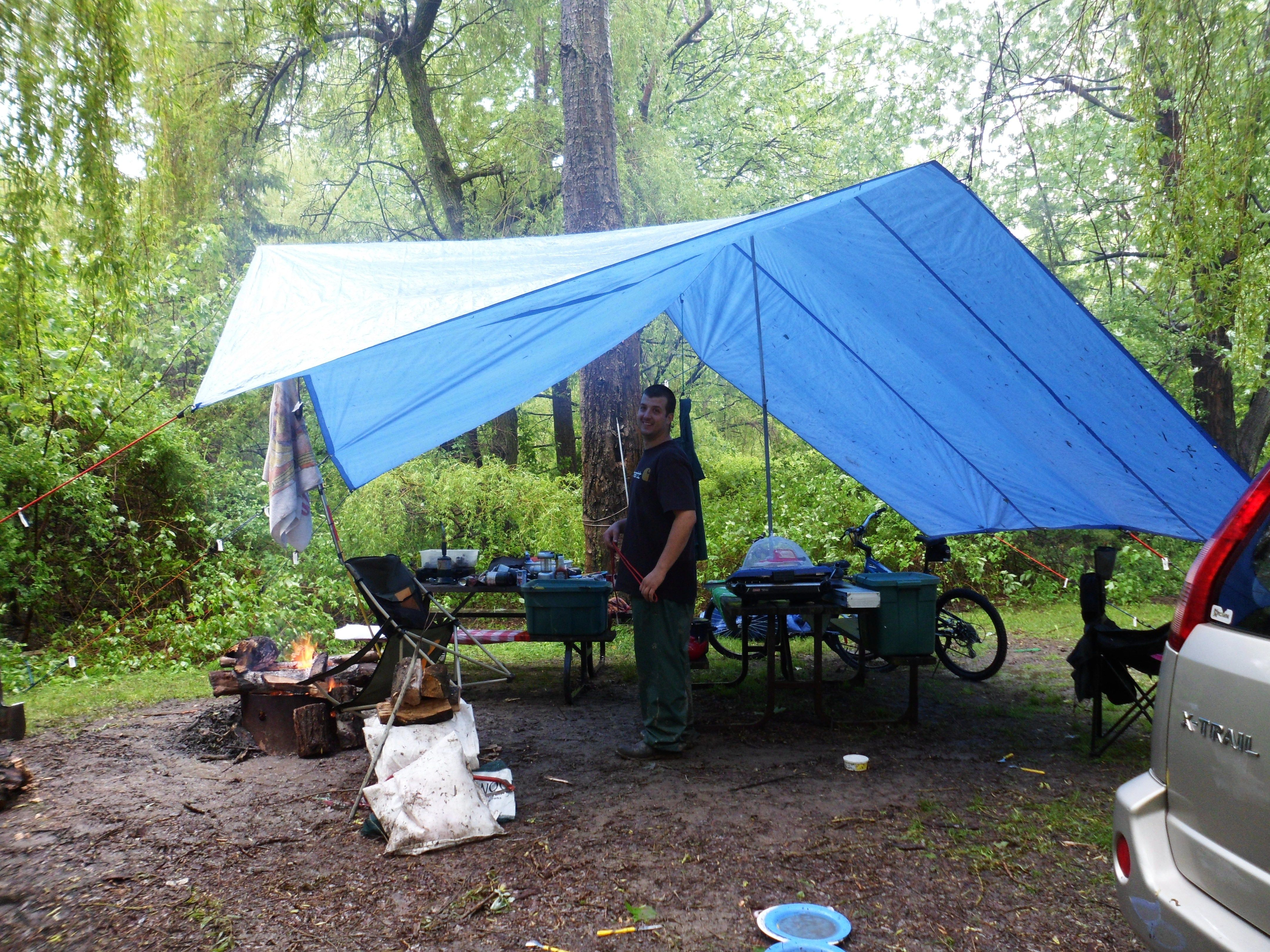 How to Set Up a Tarp for Camping   Camping tarp, Camping ...