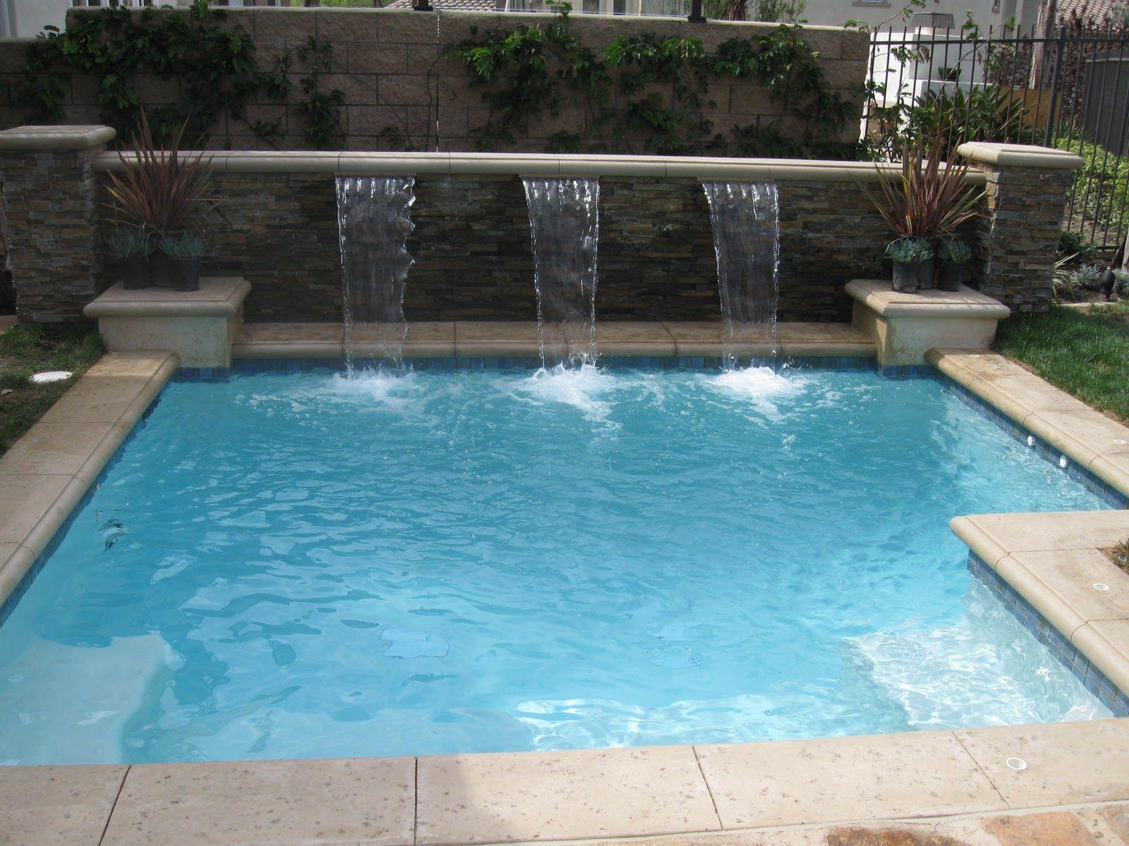 Spool Like The Back Wall Amazing Swimming Pools Small Swimming Pools Backyard Pool