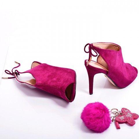 Sandalki Szpilki Botki Dontlie Purpurowe Fuksja Red Pumps Purple Heels Shoes