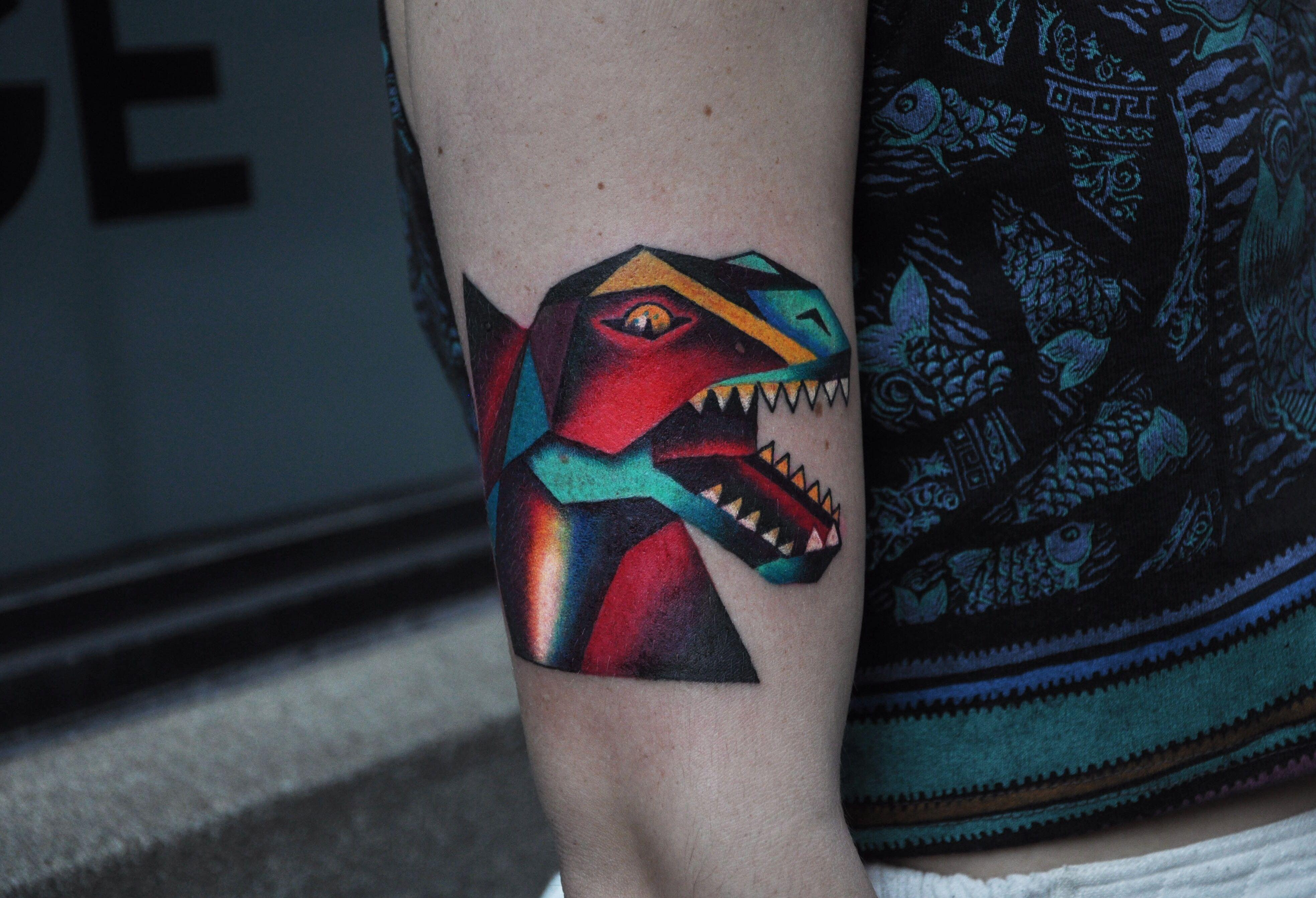 TRex tattoo by David Cote, Imperial Tattoo Connexion