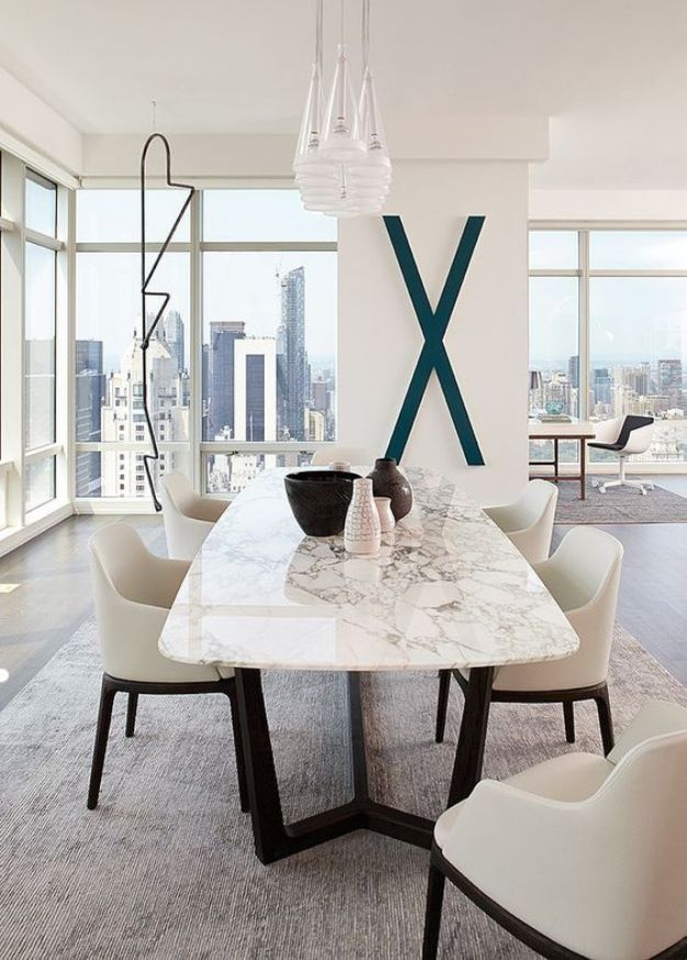 2017 Different And Stunning Dining Table Designs For Every Taste Fair White Contemporary Dining Room Sets Decorating Design