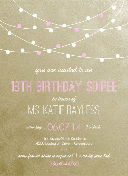 18th Birthday Invite Birthday Invitation Templates 18th Birthday Invites Birthday Party Invitation Templates