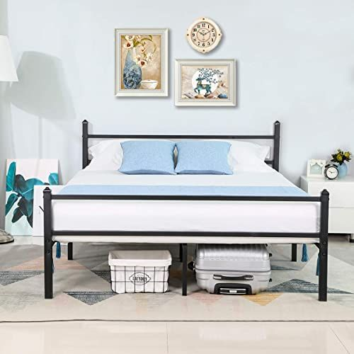 Amazing Offer On Greenforest Queen Bed Frame Heavy Duty Square