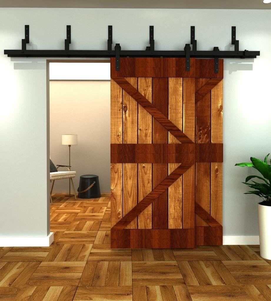 Ordinaire Amazon.com: 5FT Bypass Sliding Barn Double Door Hardware Track Set,Modern  Interior
