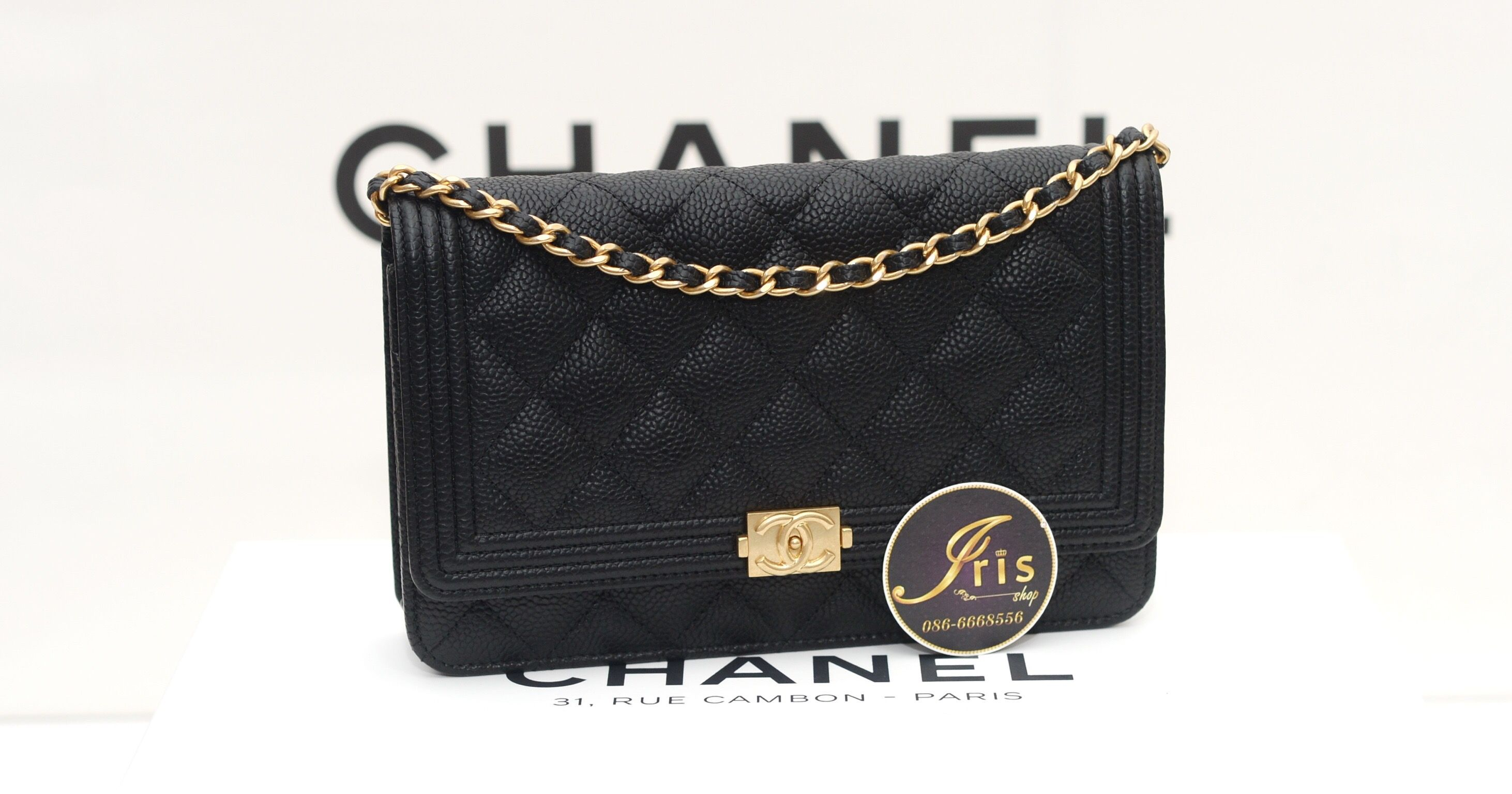 8933ddc9b882 กระเป๋า Chanel WOC BoY Black Caviar GHW ของใหม่พร้อมส่ง‼ - Iris Shop