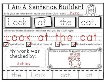 Sentence Builder Sets 1 2 3 And Editable Pages Sentence