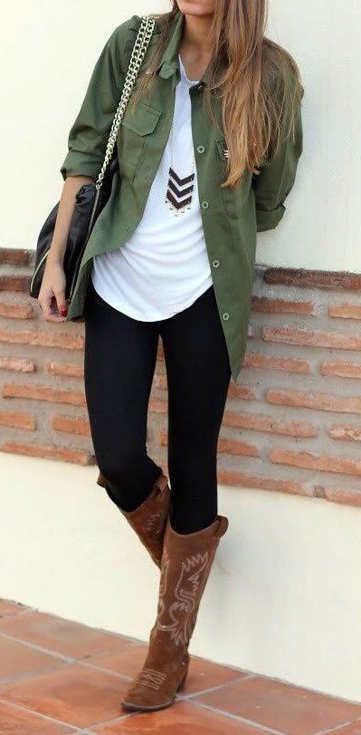 25 Outfits With Brown Boots: How To Wear Boots The Right Way