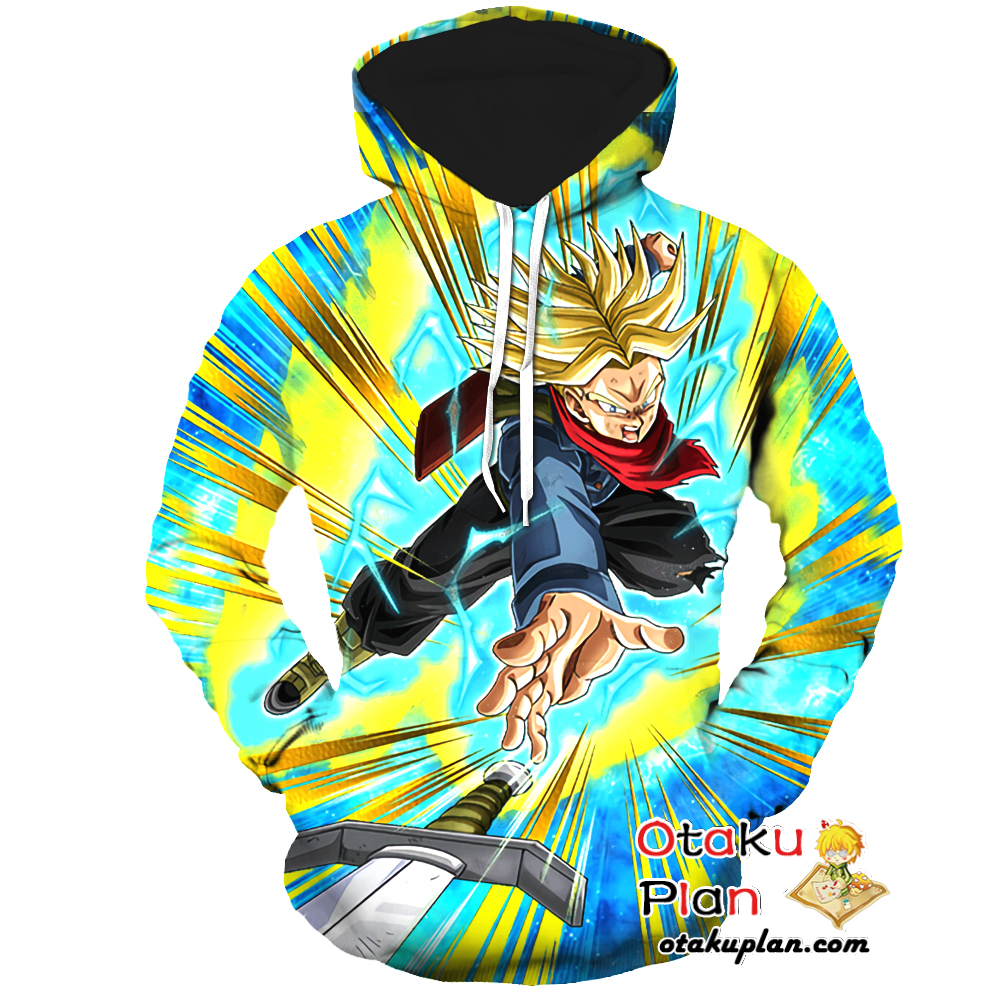 Dbz Lightning Fast Strike Super Saiyan Trunks Future Hoodie Dragon Ball Z 3d Hoodies And Clothing Anime Hoodie Print Anime Merchandise Cosplay Costumes