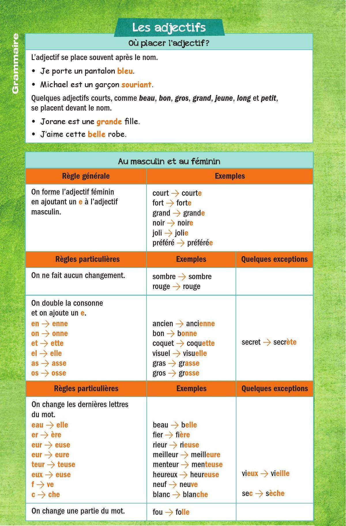 السنة الخامسة إبتدائي تعلم اللغة الفرنسية بالصور قواعد اللغة الفرنسية Dzexams Learn French French Grammar French Verbs