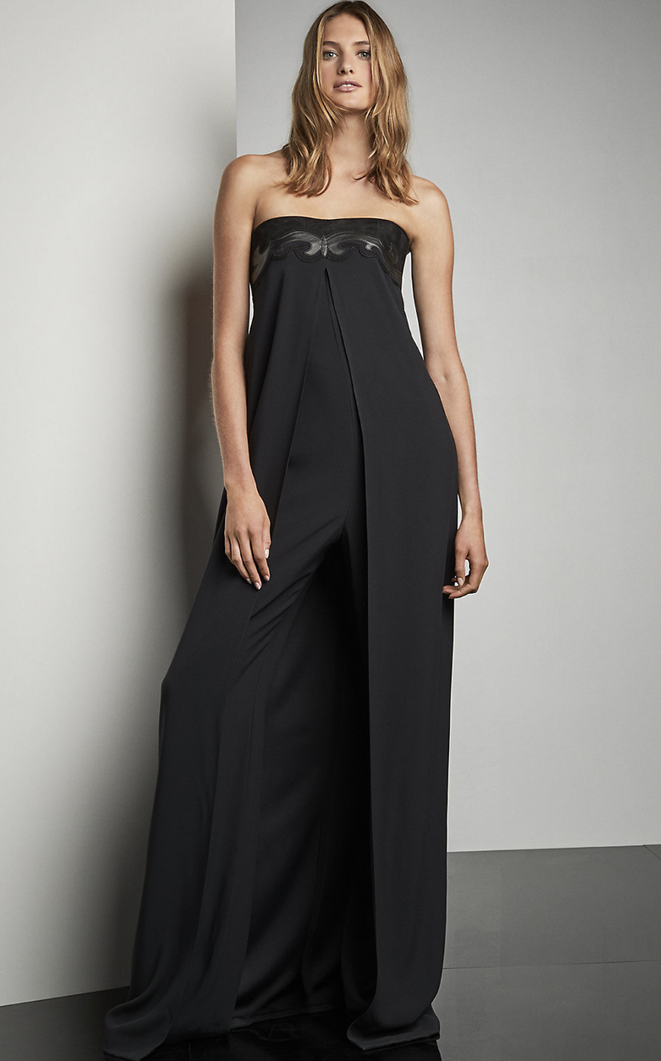 04050096 Ralph Lauren Madison Leather Trim Jumpsuit | women fashion in 2019 ...