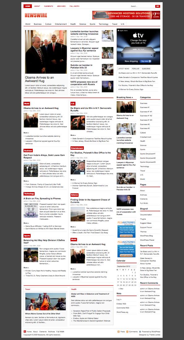Newswire WordPress News Portal Theme   Best WordPress Themes   Pinterest