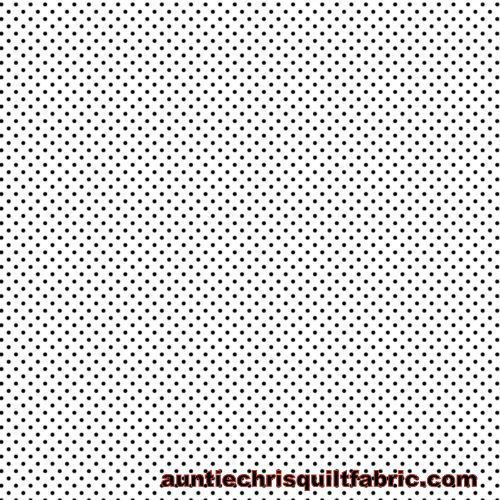 Cotton Quilt Fabric Happy Halloween Pin Dot White Black - product images  of