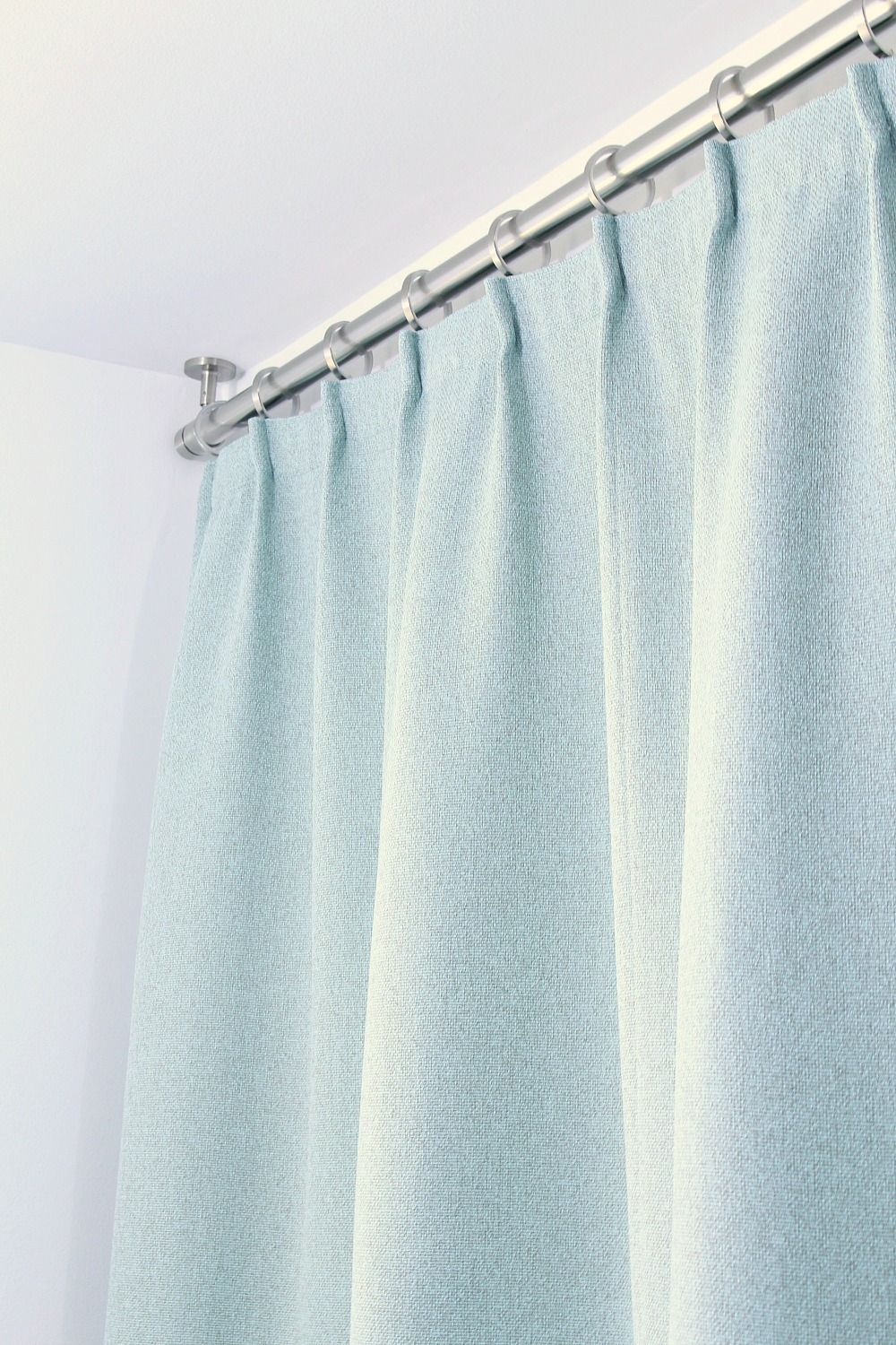 Bathroom Update Ceiling Mounted Shower Curtain Rod Turquoise