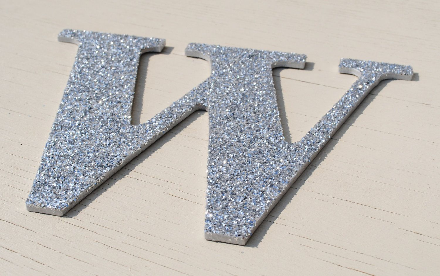 Big Silver Letters For Wall Inspiration Decorative Silver Holiday Glitter Wall Letters$800 Via Etsy Inspiration Design