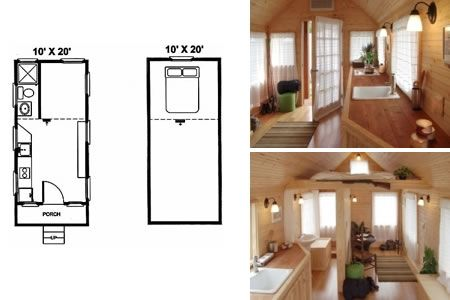 Tiny House Plans On Wheels 10'x20' living, ah, the simple life! i'm designing one of these