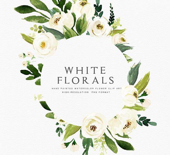 Acuarela floral Clip marco arte-Floral ---¿Qué obtienes?--- 6 marcos ...