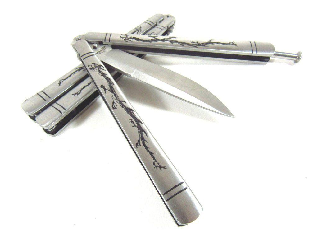 Deluxe Dragon Metal Steel Practice Balisong Butterfly Knife