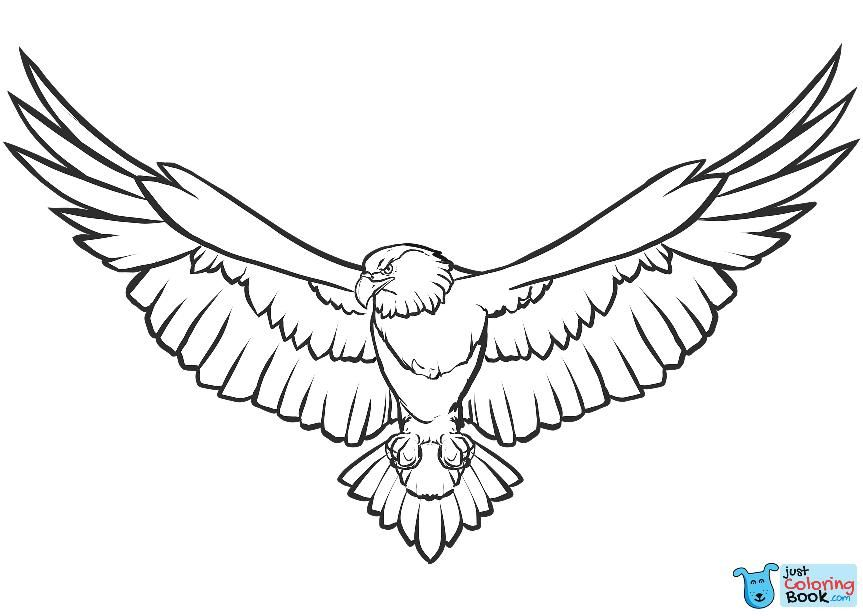 Bald Eagle Coloring Page Free Printable Coloring Pages Intended