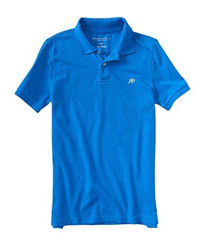 af9896e6f93 Aeropostale Men's A87 Solid Logo Piqu Polo Shirt S Palace... https:/