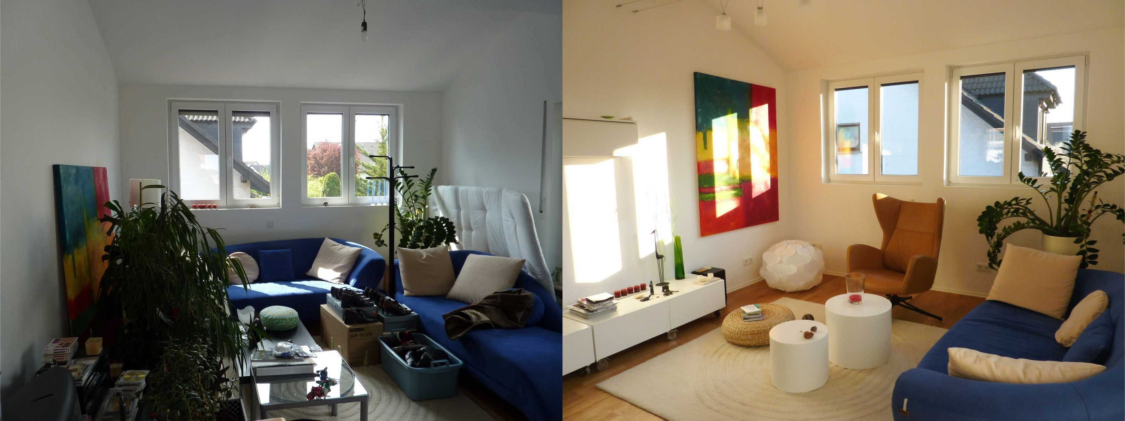 Ehrfrchtig Wohnzimmer Neu Gestalten Vorher Nachher ...