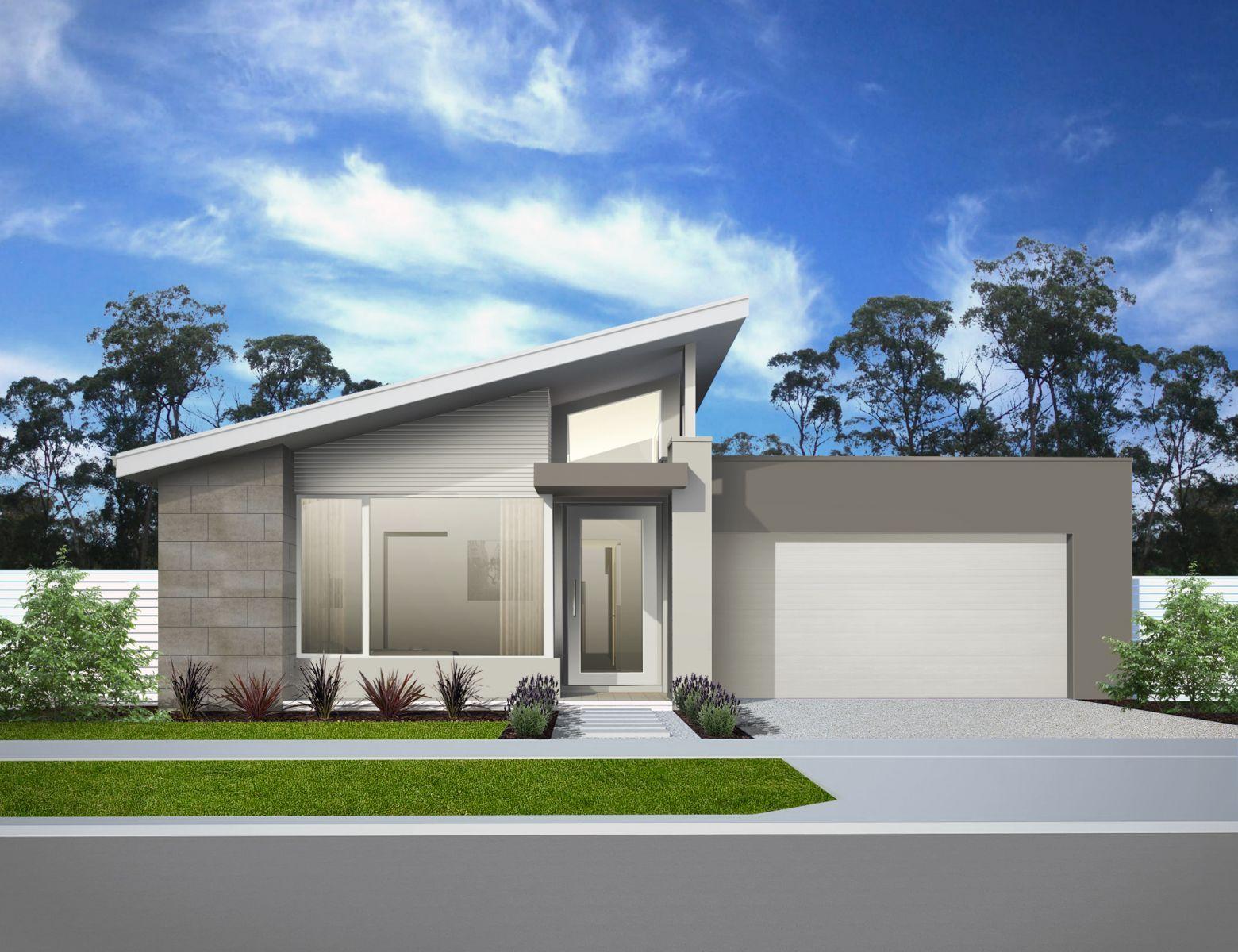 Skillion roof facade google search house facade for Small house facade design