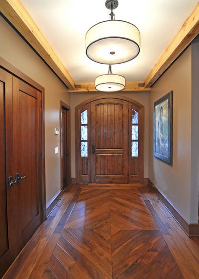 Doors Designs Brown Elegant Traditional Wooden Front Door Ideas For Awesome Country House Also: Iconic Wood Plank Flooring #DarkWoodFloors #DarkWoodFloorIdeas