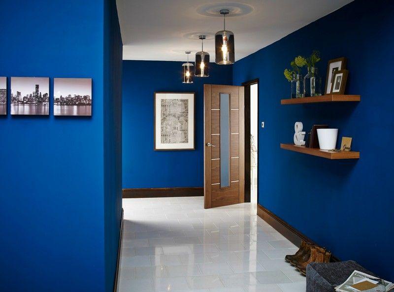 Afficher L Image D Origine Murs Peints En Bleu Pièces Bleues Decoration Chambre Bleue