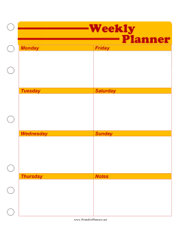 This Free Printable Weekly Planner Is Great For High School And