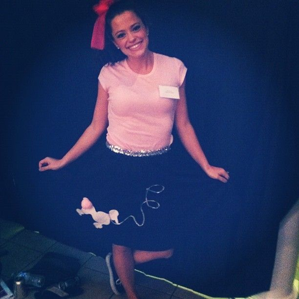 Fun AXO recruitment 50's inspired recruitment outfits.  Poodle skirts!