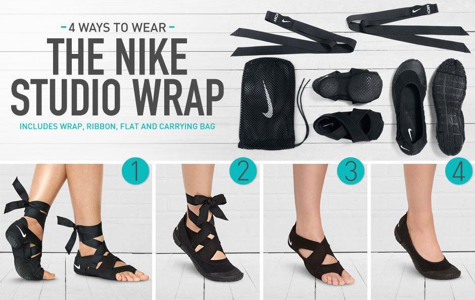 Nike Studio Wrap Pack Three Part Footwear System Dance Yoga Black 555173 001