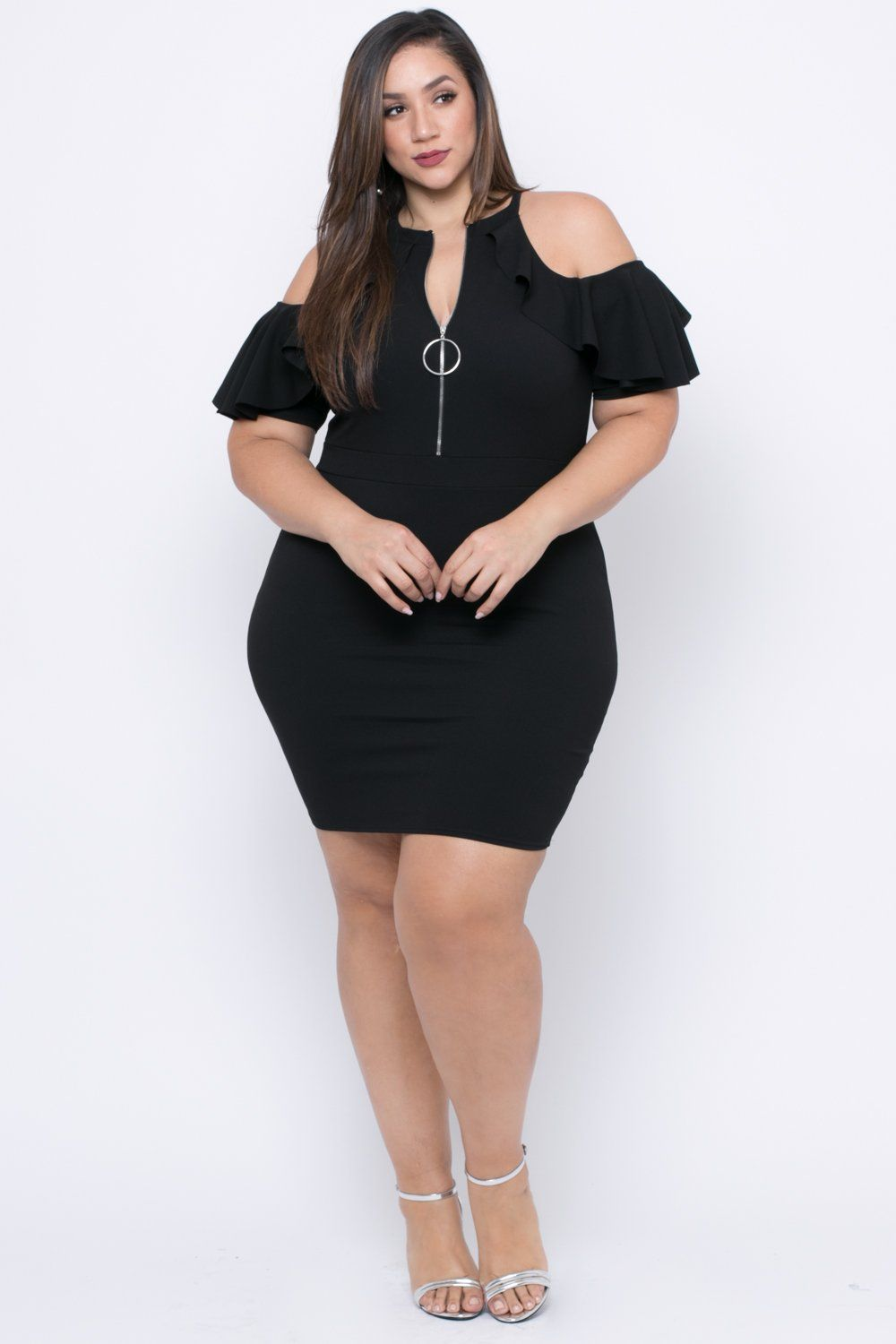 b69b378616 Plus Size Zip Me Up Dress - Black
