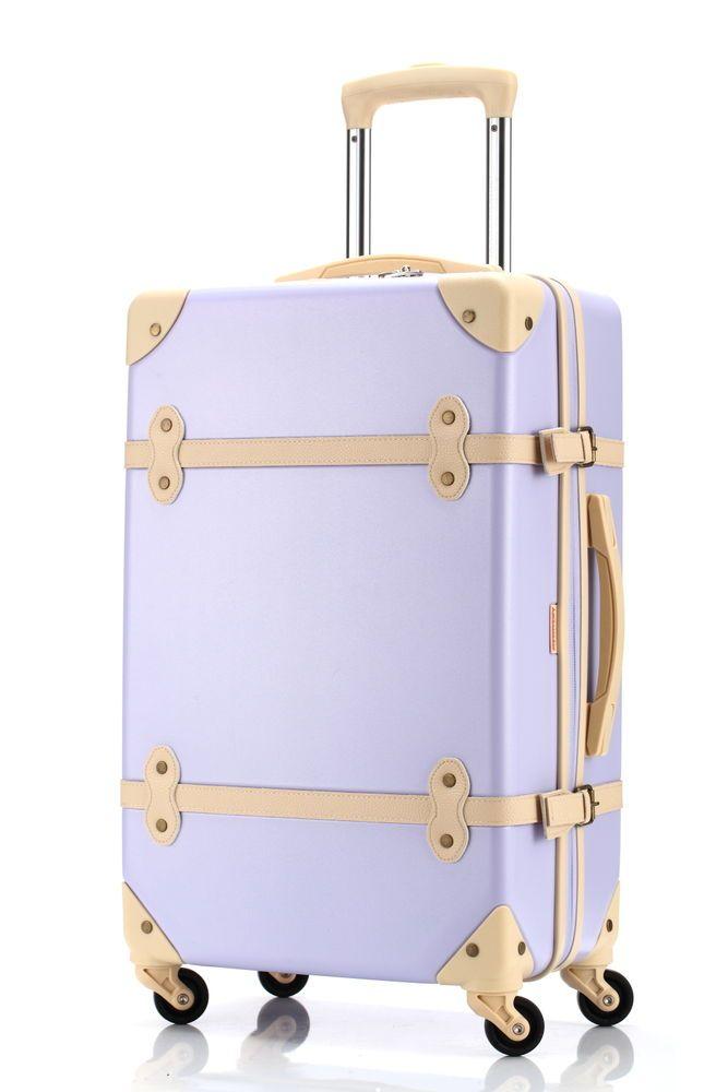 3fdc0e2f7 Ambassador® Vintage Series Retro Carry On 20'' Suitcase Spinner Luggage  Purple #Ambassador