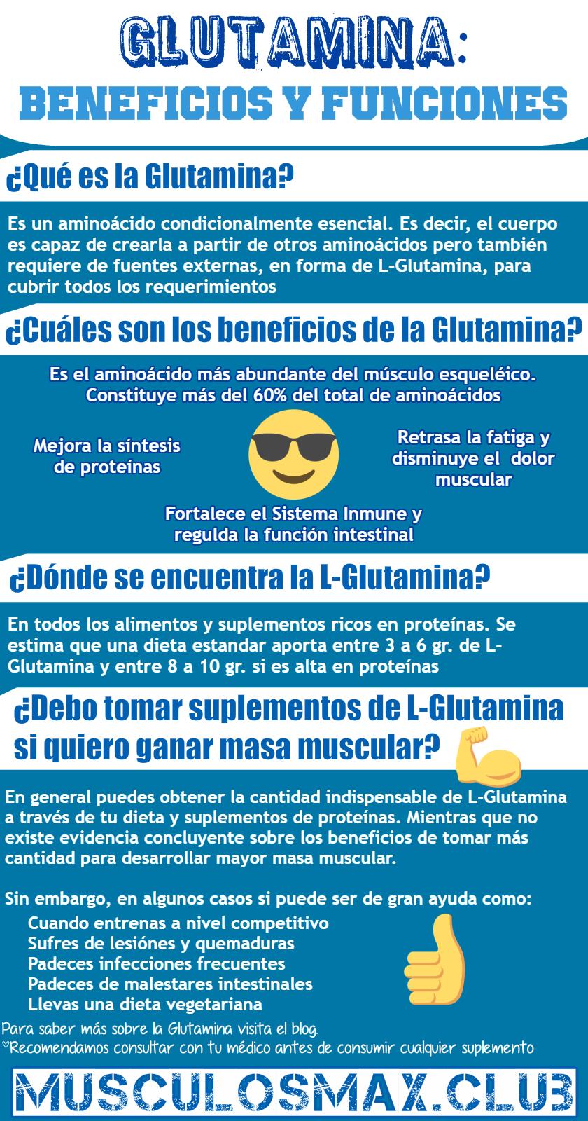 para que sirve la glutamina en el ejercicio