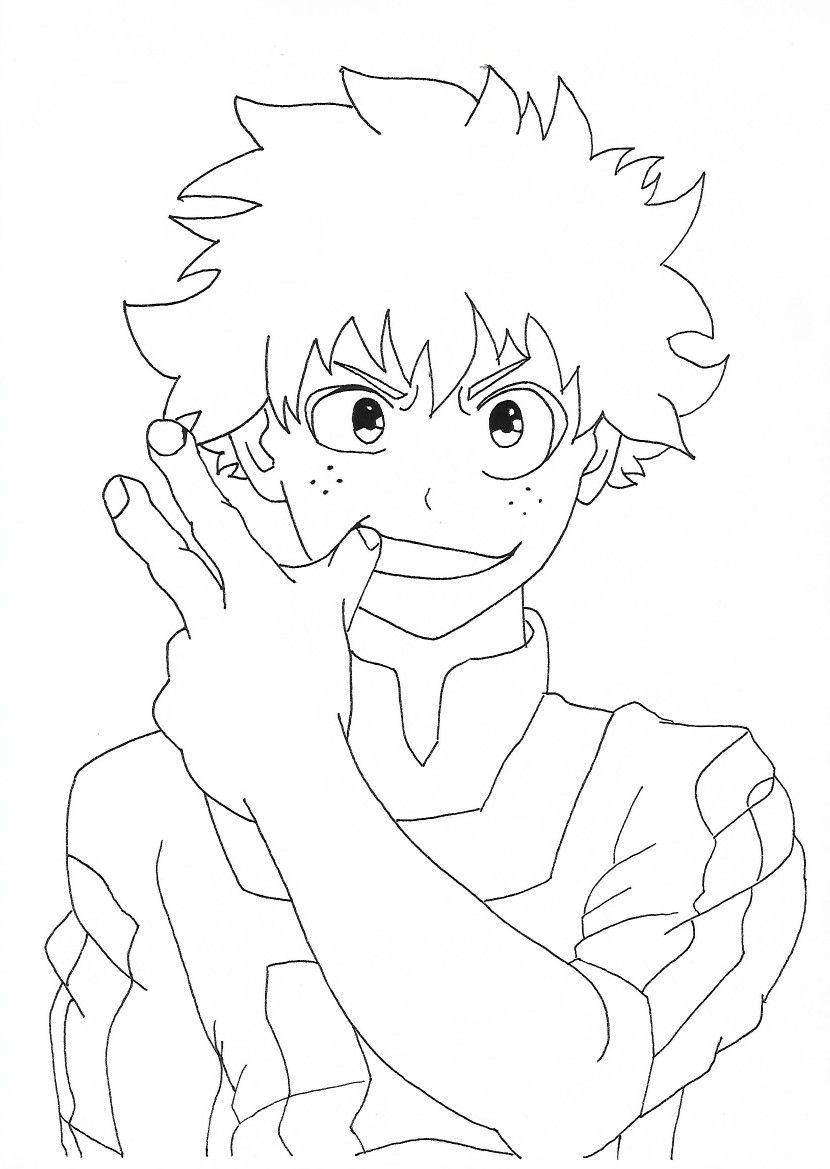 Izuku Midoriya Desenho Anime Sketch Anime Drawings Pencil Drawings Easy