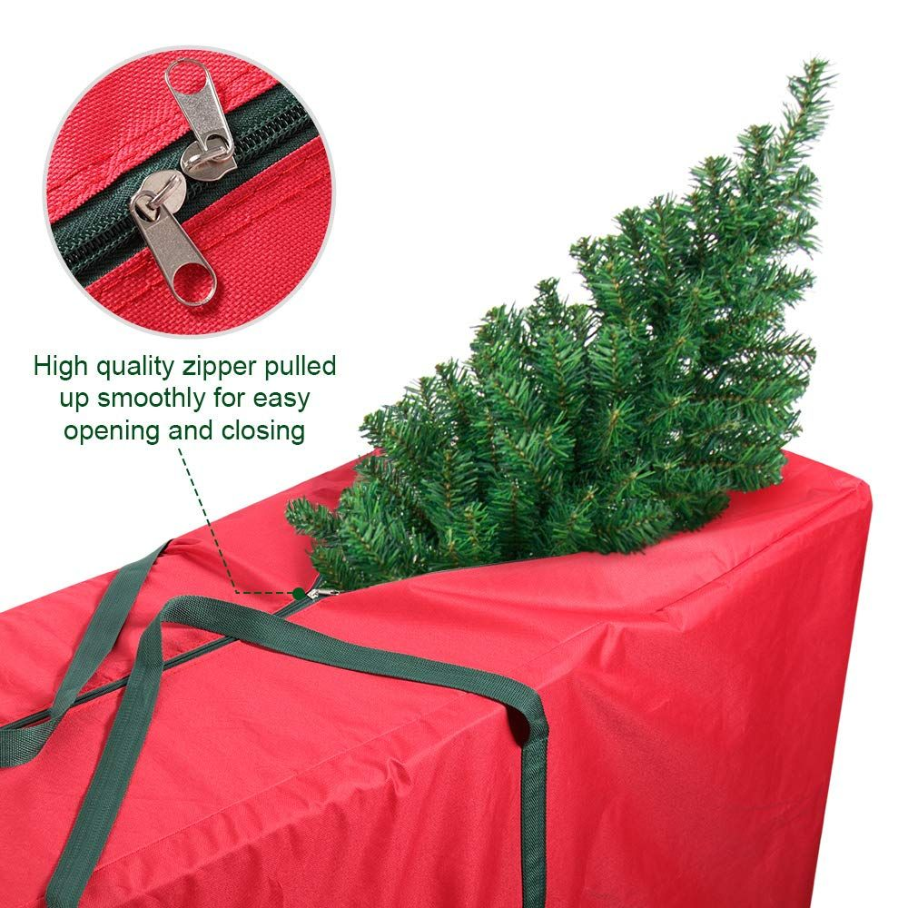 Coogam Christmas Tree Storage Bag Fits Up To 7 5 Ft Artificial Tree Oxford Canvas Xmas Tree Cont Christmas Tree Storage Bag Christmas Tree Storage Bag Storage