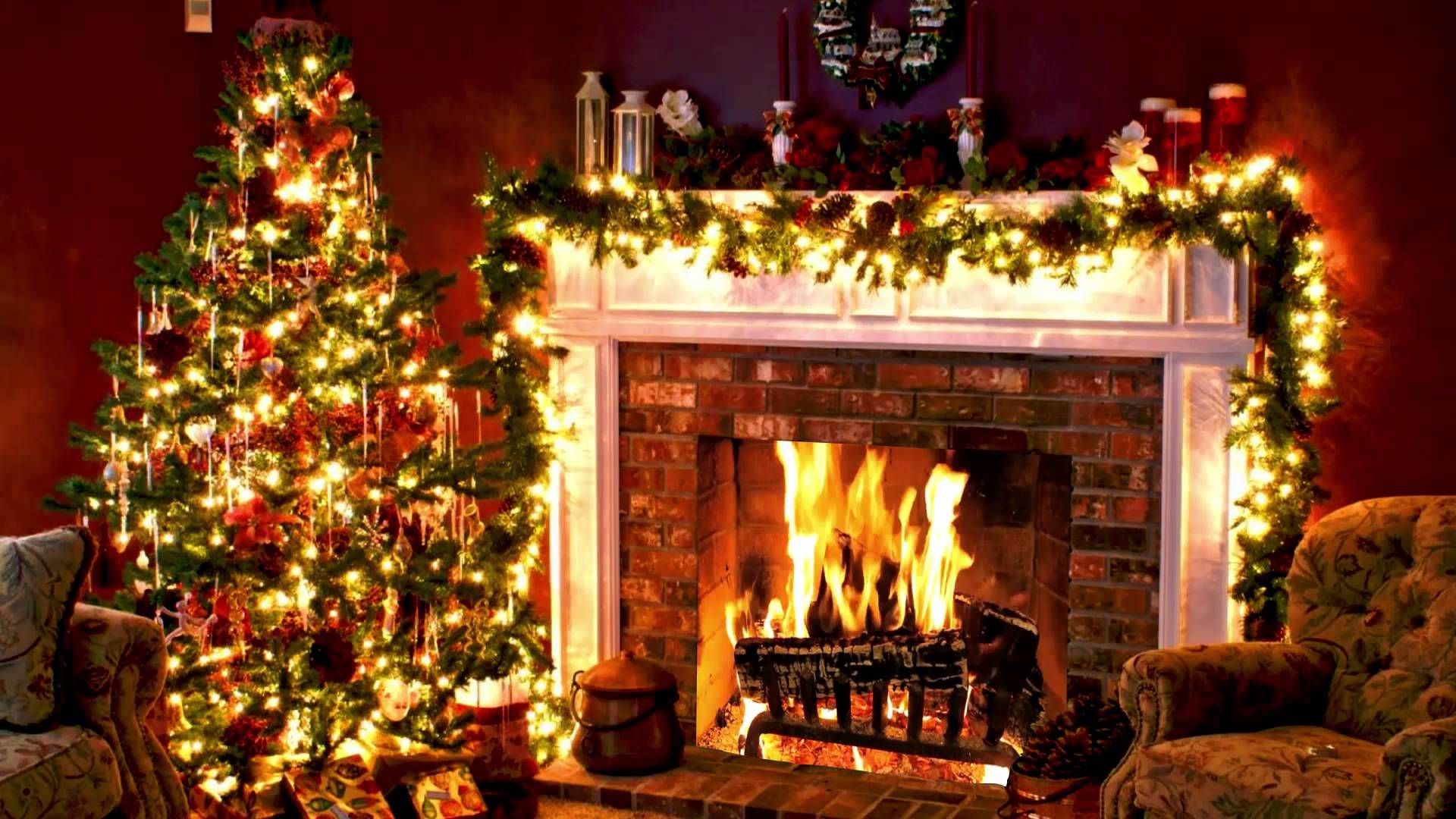 Christmas Classics with Fireplace Background Christmas