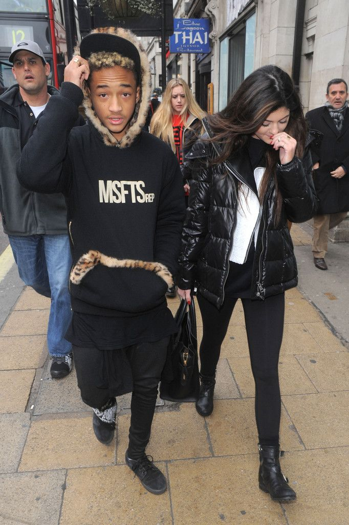 f38a12c08 Jaden Smith and Kylie Jenner - Kylie Jenner and Jaden Smith at Cafe Nero in  London