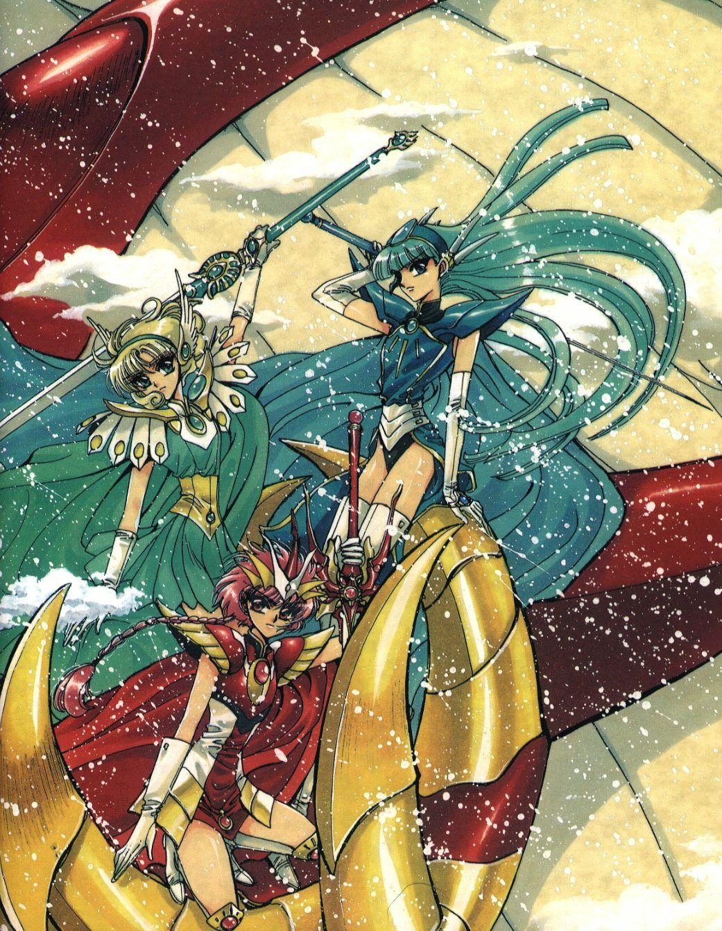Magic Knight Rayearth Arte de anime, Guerreros y Dibujos