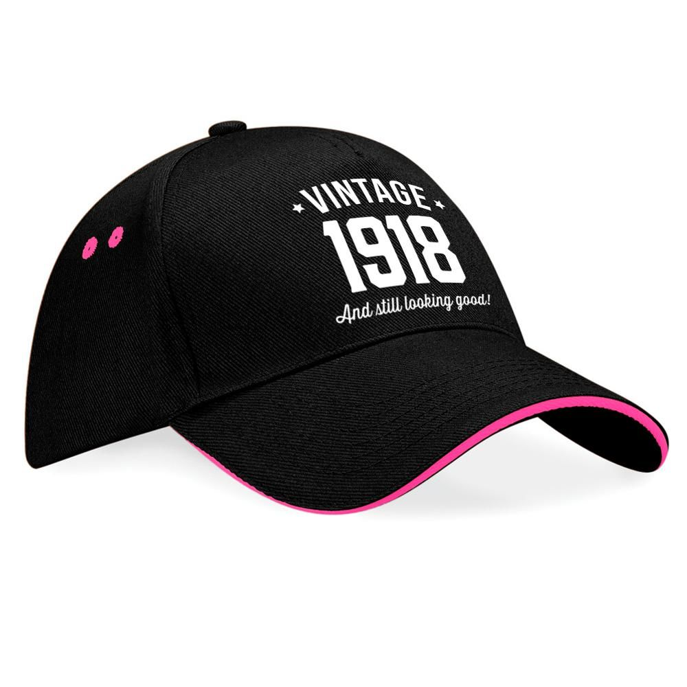 100th Birthday 1918 Gift Vintage Embroidered Hat Idea 100 Years Old