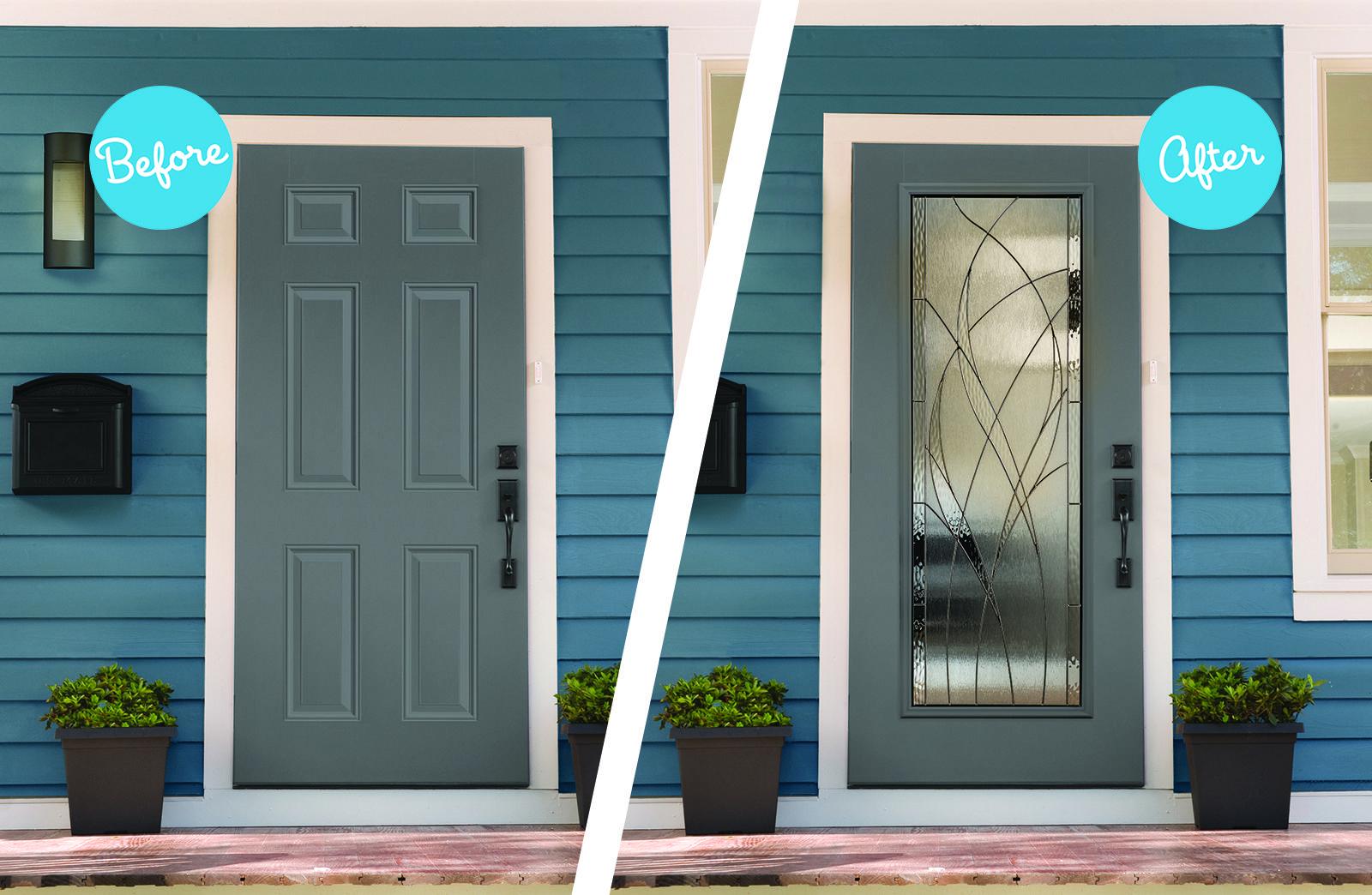 Your Door Brand New Look Get Your Own Door Makeover For The Fraction Of The Cost Of A New Door Front Door Makeover House Front Door Door Makeover