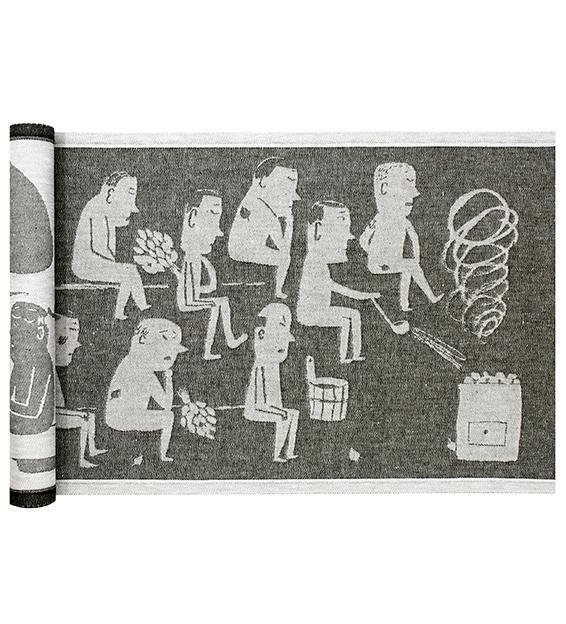 MIESTEN SAUNA laudeliina by lapuan kankurit illustration by matti pikkujamsa