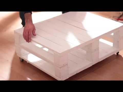 Tavolino con bancali YouTube Tavolini, Bancali